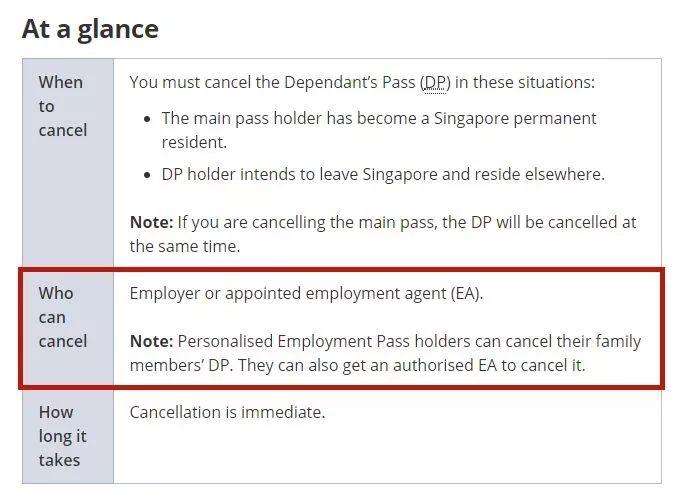 和新加坡公民离婚后,配偶长期居留准证会被立马取消吗?