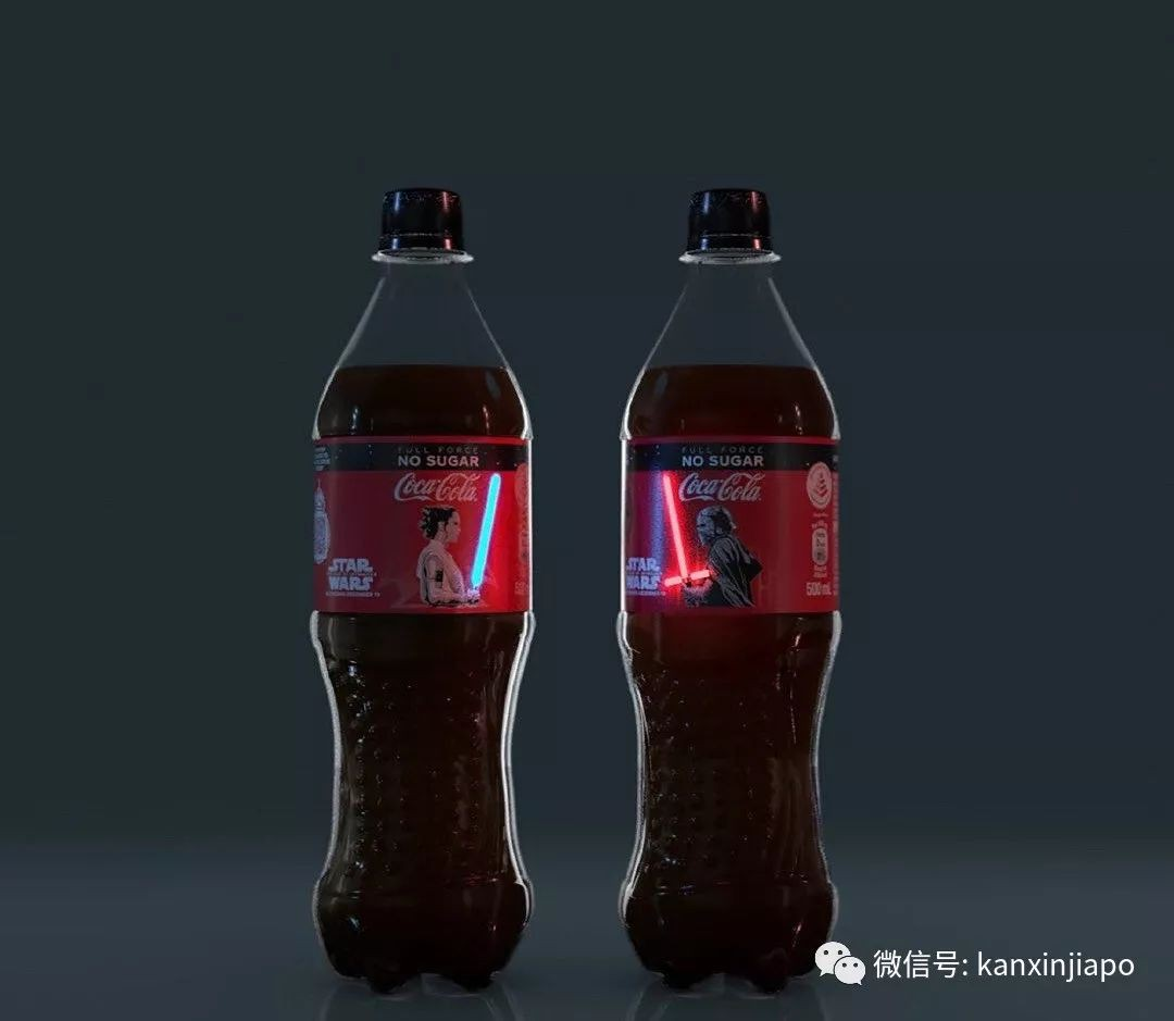 """""""星战""""限量,新加坡推出全球首款会发光的可口可乐"""