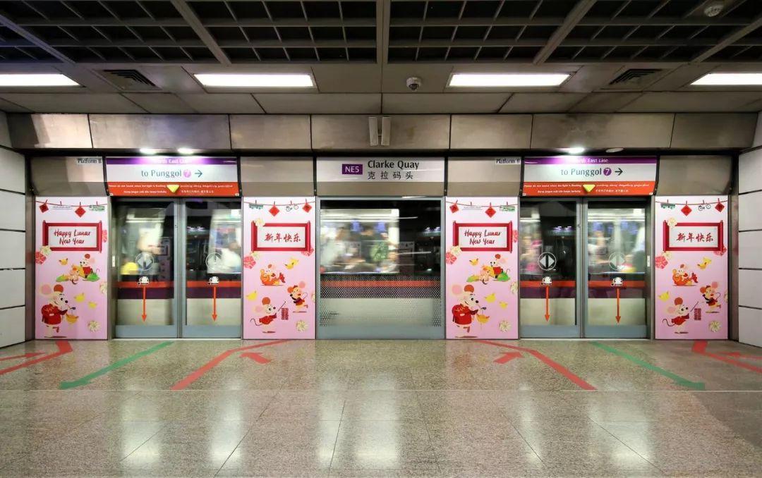 新加坡地铁车厢、站台,有大批老鼠出没~