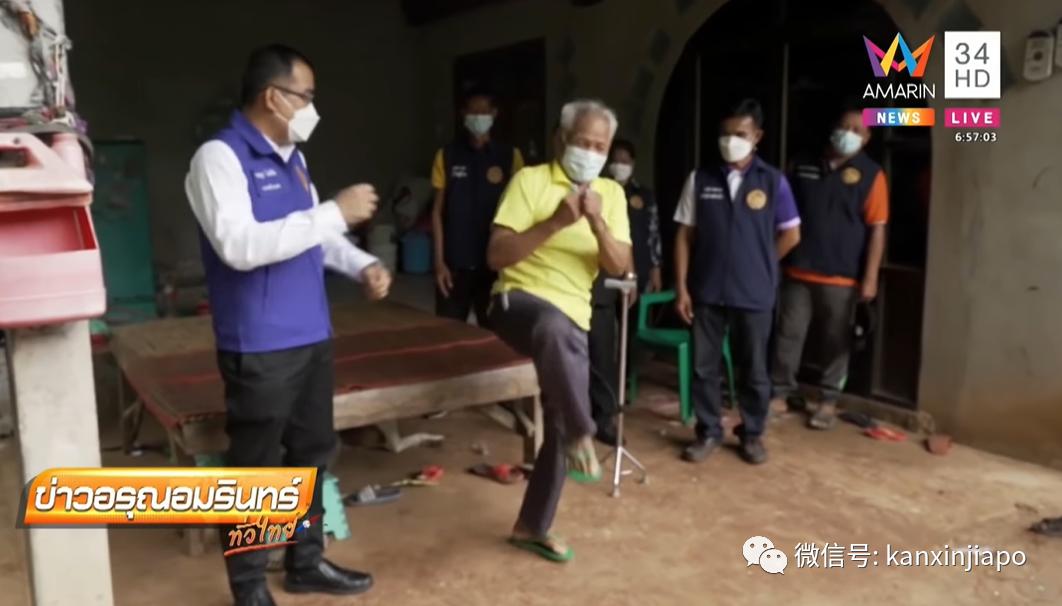 老翁罹患腿疾多年,接种科兴疫苗后奇迹般康复,还能打泰拳